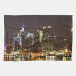 Midtown Manhattan seen from Weehawken New Jersey Hand Towel