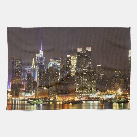 Midtown Manhattan seen from Weehawken New Jersey Kitchen Towel