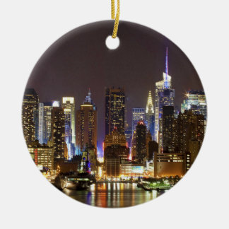Midtown Manhattan seen from Weehawken New Jersey Ornaments