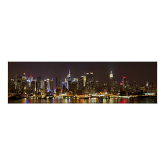 Midtown Manhattan seen from Weehawken New Jersey Poster