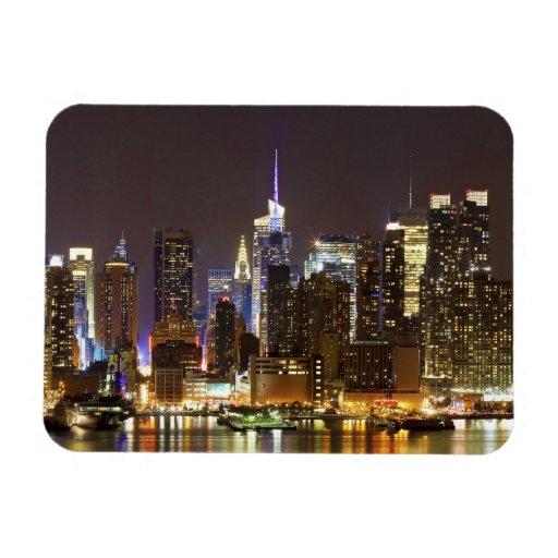 Midtown Manhattan seen from Weehawken New Jersey Rectangular Photo Magnet