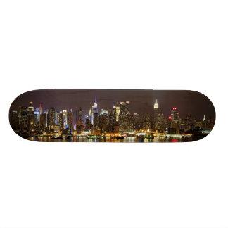 Midtown Manhattan seen from Weehawken New Jersey Skateboard Deck