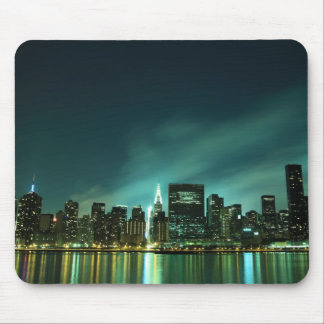 Midtown Manhattan skyline at Night Lights, NYC Mouse Pad