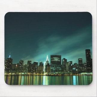 Midtown Manhattan skyline at Night Lights, NYC Mouse Pad