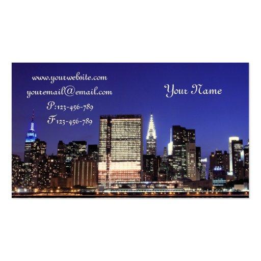 Midtown Manhattan Skyline at Night New York City Business