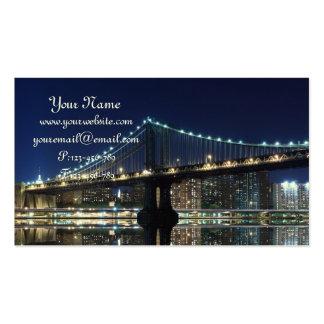 Midtown Manhattan Skyline at Night, New York City Business Card