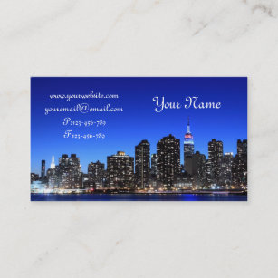 New york skyline business cards templates zazzle midtown manhattan skyline new york city business card colourmoves