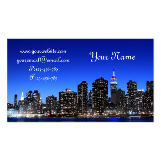 Midtown Manhattan Skyline, New York City Double-Sided Standard Business Cards (Pack Of 100)