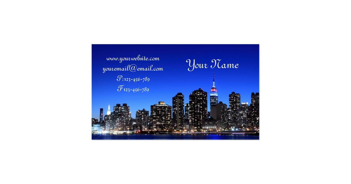 Midtown Manhattan Skyline New York City Business Card