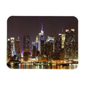 Midtown Manhattan visto de Weehawken New Jersey Iman Rectangular