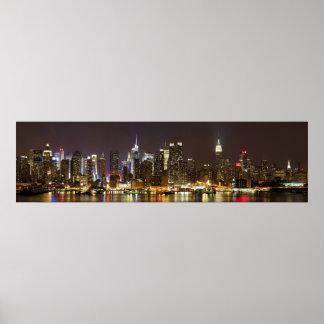 Midtown Manhattan visto de Weehawken New Jersey Posters