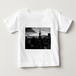 Midtown negro y blanco de New York City Playera