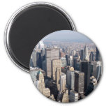 Midtown, New York City, los E.E.U.U. Imán Redondo 5 Cm