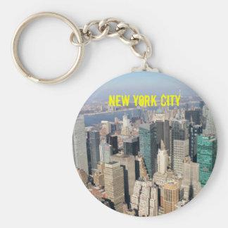 Midtown, New York City, los E.E.U.U. Llavero Redondo Tipo Pin