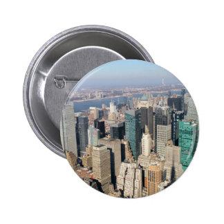 Midtown, New York City, los E.E.U.U. Pin Redondo 5 Cm