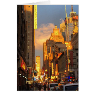 Midtown Sunset NYC New York Theatre District Photo Card