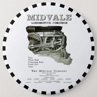 Midvale Steam Locomotive Forgings 1924 Button