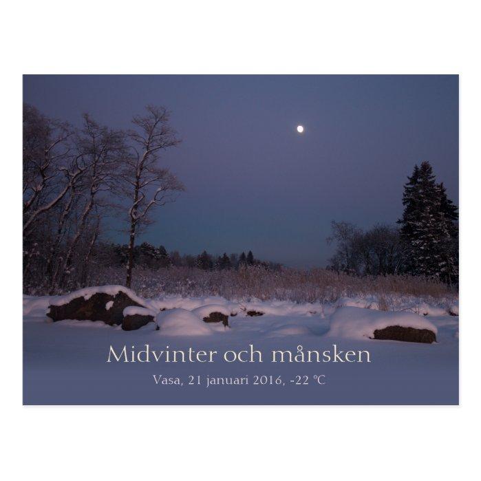 Midvinter och månsken Vasa Vaasa Finland CC0827 Postcard