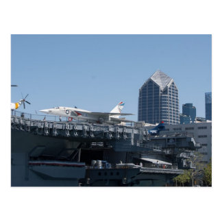 Midway Aircraft Carrier Docked In San Diego Postcard
