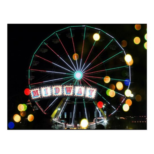 Midway Ferris Wheel at Night (The Big E) Postcard