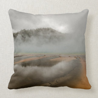 Midway Geyser Basin in Yellowstone National Park Throw Pillow