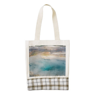 Midway Geyser Basin Turquoise Pool Zazzle HEART Tote Bag