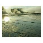 Midway Geyser Pool at Sunrise Photo Print