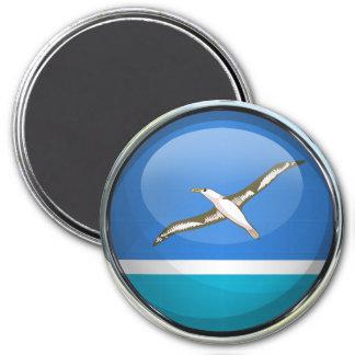 Midway Islands Flag Glass Ball Fridge Magnets