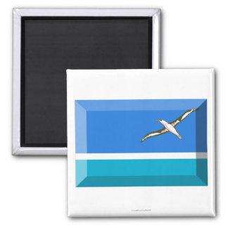 Midway Islands Flag Jewel Fridge Magnets