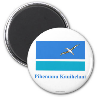 Midway Islands Flag with Name in Hawaiian Magnet