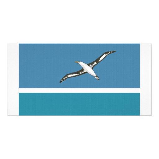 Midway Islands Local Flag Custom Photo Card