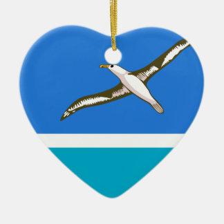 Midway Islands (locales), Estados Unidos Adorno De Cerámica En Forma De Corazón