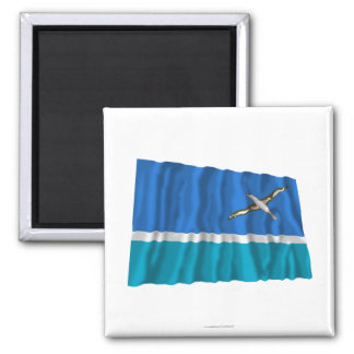Midway Islands Waving Flag Refrigerator Magnets