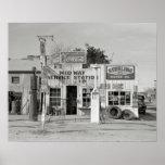 Midway Service Station, 1939. Vintage Photo Poster