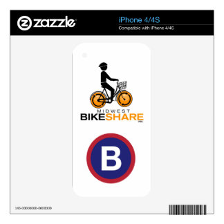 Midwest BikeShare iPhone skin Skin For The iPhone 4S