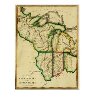 Midwest in the United StatesPanoramic Map Poster