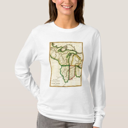 Midwest in the United StatesPanoramic Map T-Shirt