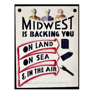 Midwest Is Backing You On Land, On Sea & In The Ai Postcard