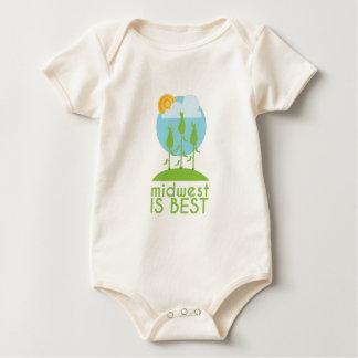 Midwest Is Best Baby Bodysuit