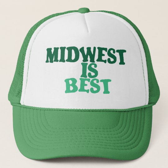 efd6f18d84c Midwest Is Best Trucker Hat Zazzle