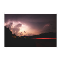 Midwest Lightning Show Canvas Print
