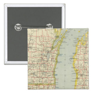 Midwest United States 2 Inch Square Button