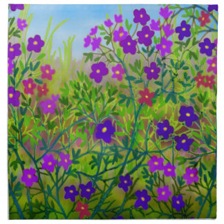Midwestern Country Wildflowers Napkin