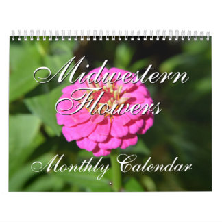 Midwestern Flowers Nature Photography Calendar