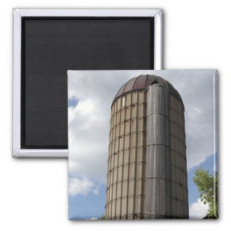 Midwestern Silo Refrigerator Magnet