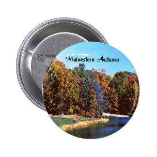 Midwesterrn Autumn Pinback Button