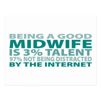 Midwife 3% Talent Postcard