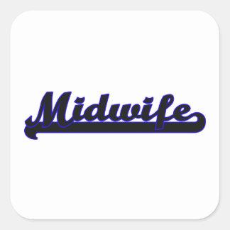 Midwife Classic Job Design Square Sticker
