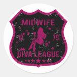 Midwife Diva League Classic Round Sticker