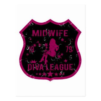 Midwife Diva League Postcard